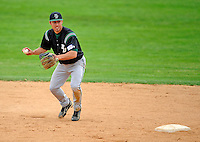 2 May 2008: Binghamton University Bearcats' shortstop Kyle Klee, a Junior from Rochester, NY, in action against the University of Vermont Catamounts at Historic Centennial Field in Burlington, Vermont. The Catamounts defeated the Bearcats 6-2 in the first game of their weekend series...Mandatory Photo Credit: Ed Wolfstein Photo