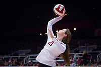 STANFORD, CA - November 15, 2017: Sidney Wilson at Maples Pavilion. The Stanford Cardinal defeated USC 3-0 to claim the Pac-12 conference title.