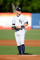 Tampa Yankees first baseman Matt Snyder #29 before a game against the Lakeland Flying Tigers at Steinbrenner Field on April 6, 2013 in Tampa, Florida.  Lakeland defeated Tampa 8-3.  (Mike Janes/Four Seam Images)