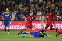 Carson, CA - Sunday January 28, 2018: Wil Trapp, Daniel Graovac during an international friendly between the men's national teams of the United States (USA) and Bosnia and Herzegovina (BIH) at the StubHub Center.