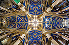 January 17, 2018; Ceiling of the Basilica of the Sacred Heart following work to replace the lighting with LED lights. (Photo by Matt Cashore/University of Notre Dame)