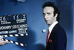Roma,Cinecittà, 1991 , Roberto Benigni sul set del film Johnny Stecchino, Rome,1991, Roberto Benigni on Johnny Stecchino movie set