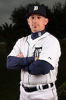 February 27, 2010:  Bullpen Catcher Scott Pickens of the Detroit Tigers poses for a photo during media day at Joker Marchant Stadium in Lakeland, FL.  Photo By Mike Janes/Four Seam Images
