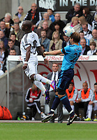 Pictured: Leroy Lita of Swansea City in action. Saturday 17 September 2011<br /> Re: Premiership football Swansea City FC v West Bromwich Albion at the Liberty Stadium, south Wales.