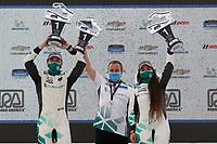 #3 Motorsports In Action McLaren 570S GT4, GS: Sheena Monk, Corey Lewis, podium