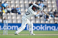 Kane Williamson, New Zealand drives through the covers for four runs during India vs New Zealand, ICC World Test Championship Final Cricket at The Hampshire Bowl on 23rd June 2021