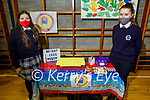 Students Fíleoonagh Mansfield and Evelyn Mason with their Weights Less project at the Presentation Castleislands annual school enterprise competition