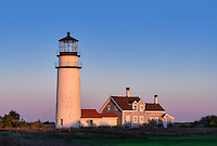 Rustic, weathered lighthouse, Highland Light, Truro, Cape Cod, Massachusetts, USA