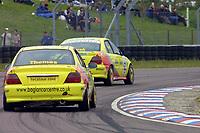 Round 3 of the 2002 British Touring Car Championship. #62 Spencer Marsh (GBR) & #63 Mark Thomas (GBR). Beacon Motorsport. Honda Accord.