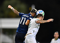 LAKE BUENA VISTA, FL - AUGUST 01: Valentín Castellanos of New York City FC and Dario Zuparic #13 of the Portland Timbers during a game between Portland Timbers and New York City FC at ESPN Wide World of Sports on August 01, 2020 in Lake Buena Vista, Florida.