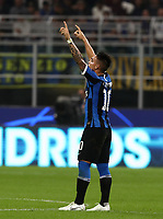 Football Soccer: UEFA Champions League -Group Stage- Group F Internazionale Milano vs Borussia Dortmund, Giuseppe Meazza stadium, October 23, 2019.<br /> Inter's Lautaro Martinez celebrates after scoring during the Uefa Champions League football match between Internazionale Milano and Borussia Dortmund at Giuseppe Meazza (San Siro) stadium, on October 23, 2019.<br /> UPDATE IMAGES PRESS/Isabella Bonotto
