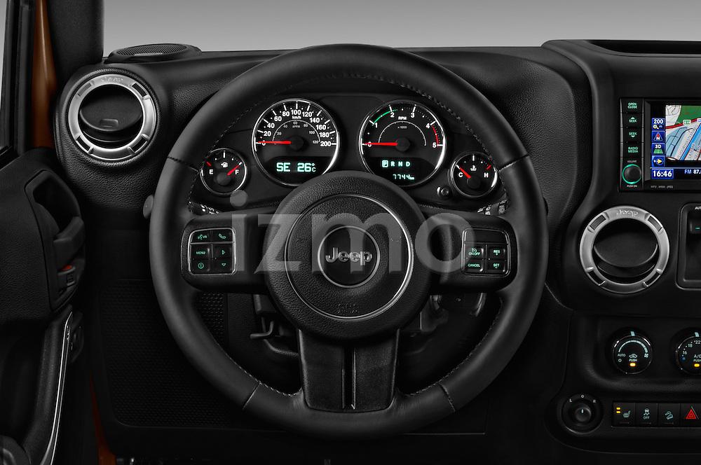 Car pictures of steering wheel view of a 2016 JEEP Wrangler Sahara 5 Door SUV Steering Wheel