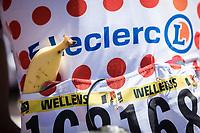 Polka Dot Jersey / KOM leader Tim Wellens (BEL/Lotto Soudal) with his traditional banana at the race start. <br /> <br /> Stage 5: Saint-Dié-des-Vosges to Colmar (175km)<br /> 106th Tour de France 2019 (2.UWT)<br /> <br /> ©kramon