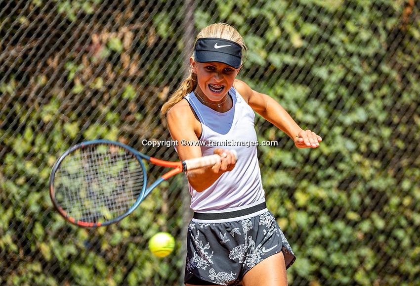 Hilversum, Netherlands, Juli 29, 2019, Tulip Tennis center, National Junior Tennis Championships 12 and 14 years, NJK, Nina Kwakman(NED)<br /> Photo: Tennisimages/Henk Koster