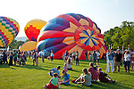 The Quechee Hot Air Balloon Festival in Quechee village, Hartford, VT, USA