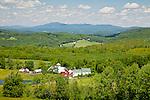 The Bogie Mountain Farm under New Hampshire's Kilkenny Range in Barnet, VT, USA