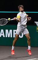 Rotterdam, The Netherlands, 5 march  2021, ABNAMRO World Tennis Tournament, Ahoy,  Quarter final: Jeremy Chardy (FRA). Photo: www.tennisimages.com/henkkoster