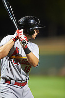 Glendale Desert Dogs Paul DeJong (16), of the St. Louis Cardinals organization, during a game against the Scottsdale Scorpions on October 14, 2016 at Scottsdale Stadium in Scottsdale, Arizona.  Scottsdale defeated Glendale 8-7.  (Mike Janes/Four Seam Images)