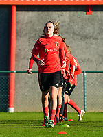 20200911 - TUBIZE , Belgium : Tine De Caigny pictured during the training session of the Belgian Women's National Team, Red Flames ahead of the Women's Euro Qualifier match against Switzerland, on the 28th of November 2020 at Proximus Basecamp. PHOTO: SEVIL OKTEM   SPORTPIX.BE