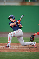 Salem Red Sox center fielder Tate Matheny (19) at bat during the first game of a doubleheader against the Potomac Nationals on May 13, 2017 at G. Richard Pfitzner Stadium in Woodbridge, Virginia.  Potomac defeated Salem 6-0.  (Mike Janes/Four Seam Images)
