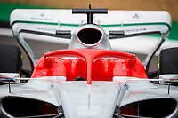 15th July 2021, Silverstone Circuit, Northampton, England;  2022 car launch halo during the Formula 1 Pirelli British Grand Prix 2021, 10th round of the 2021 FIA Formula One World Championship
