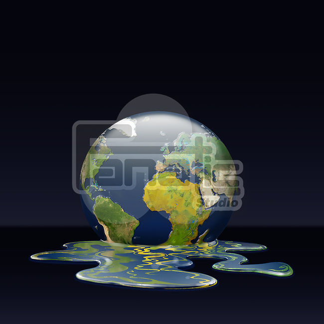 Illustrative image of melting earth representing environmental damage