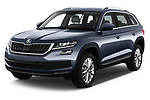 2017 Skoda Kodiaq Style 5 Door SUV Angular Front stock photos of front three quarter view