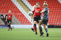 Kirsty Hanson (Manchester United Women) during the English Womens Championship match between Manchester United Women and Leicester City Women at Leigh Sports Village, Leigh, England on 10 March 2019. Photo by James Gill / PRiME Media Images.