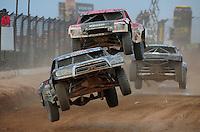 Mar. 19, 2011; Chandler, AZ, USA;  LOORRS pro two driver Marty Hart leads Rodrigo Ampudia during round one at Firebird International Raceway. Mandatory Credit: Mark J. Rebilas-US PRESSWIRE