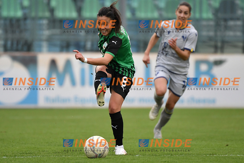 Giada Pondini of Sassuolo in action during the women Serie A football match between US Sassuolo and Hellas Verona at Enzo Ricci stadium in Sassuolo (Italy), November 15th, 2020. Photo Andrea Staccioli / Insidefoto