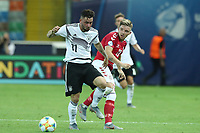 Marco Richter of Germany and Jonas Wind of Denmark compete for the ball<br /> Udine 17-06-2019 Stadio Friuli <br /> Football UEFA Under 21 Championship Italy 2019<br /> Group Stage - Final Tournament Group B<br /> Germany - Denmark<br /> Photo Cesare Purini / Insidefoto