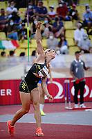 9th July 2021, Monaco, France; Diamond League Athletics, Herculis meeting, Monaco;  Nikola Ogrodnikova (Czech) womens javelin