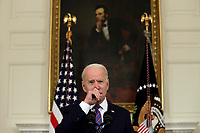 U.S. President Joe Biden delivers remarks on the March jobs report at the White House in Washington on April 2, 2021. <br /> Credit: Yuri Gripas / Pool via CNP /MediaPunch