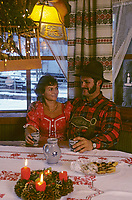Europe/Autriche/Tyrol/Axams: Après-midi de Noël chez Mr Ehrensperger fermeir et tourisme équestre - AUTORISATION N°A26<br />PHOTO D'ARCHIVES // ARCHIVAL IMAGES<br />FRANCE 1980