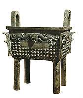 Food Receptacle. 12th c. Bronze. Chinese art. Shang period. Decorative Arts. FRANCE. Paris. Musée Cernuschi (Cernuschi Museum)