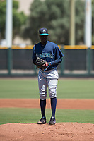 Seattle Mariners starting pitcher Ivan Fortunato (6) prepares to deliver a pitch during an Extended Spring Training game against the San Francisco Giants Orange at the San Francisco Giants Training Complex on May 28, 2018 in Scottsdale, Arizona. (Zachary Lucy/Four Seam Images)