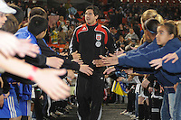 DC United midfielder Santino Quaranta (25) during the presenation of the team, Chicago Fire tied 1-0 at  RFK Stadium, Saturday March 28, 2009.