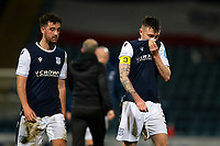 19th December 2020; Dens Park, Dundee, Scotland; Scottish Championship Football, Dundee FC versus Dunfermline; Dundee players Shaun Byrne and Jordan McGhee dejected after Declan McManus of Dunfermline Athletic had scored an equaliser with the last kick of the ball to tie the scores at 3-3
