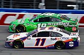 #11: Denny Hamlin, Joe Gibbs Racing, Toyota Camry FedEx Office and #18: Kyle Busch, Joe Gibbs Racing, Toyota Camry Interstate Batteries