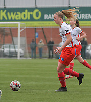 Lotte De Wilde (19) of Zulte-Waregem pictured during a female soccer game between SV Zulte - Waregem and Club Brugge YLA on the 13 th matchday of the 2020 - 2021 season of Belgian Scooore Womens Super League , saturday 6 th of February 2021  in Zulte , Belgium . PHOTO SPORTPIX.BE | SPP | DIRK VUYLSTEKE