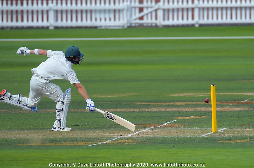 Central captain Greg Hay makes his ground during day two of the Plunket Shield cricket match between the Wellington Firebirds and Central Districts at Basin Reserve in Wellington, New Zealand on Monday, 2 March 2020. Photo: Dave Lintott / lintottphoto.co.nz