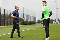 Pictured: Martyn Margetson, goalkeeping and set piece coach for Swansea City in action during the Swansea City FC training session at the Fairwood training ground in Swansea, Wales, UK Saturday 29 June 2019Saturday 29 June 2019<br /> Re: Swansea City FC training, Fairwood, near Swansea, Wales, UK