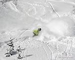 Wolf Creek Snowboard Instructor Zach Maun ripping up some December powder