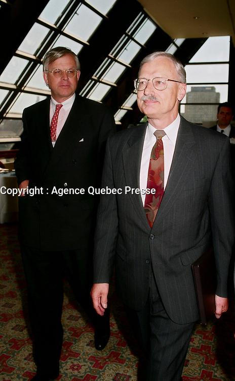 1998 File Photo - Gordon Thiessen, Bank of Canada<br /> <br /> PHOTO :  Agence Quebec Presse