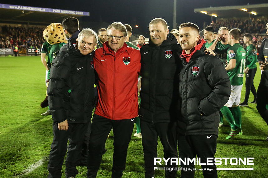 2017 SSE Airtricity League Premier Division,<br /> Cork City vs Bray Wanderers,<br /> Friday 27th October 2017,<br /> Turners Cross, Cork.<br /> Cork City's backroom staff.<br /> Photo By: Michael P Ryan