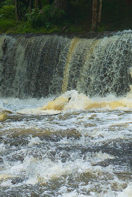 Waterfall and river at Phom Kulen