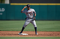 Detroit Tigers second baseman Wenceel Perez (80) during practice before a Florida Instructional League intrasquad game on October 17, 2020 at Joker Marchant Stadium in Lakeland, Florida.  (Mike Janes/Four Seam Images)