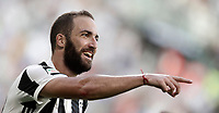 Calcio, Serie A: Torino, Allianz Stadium, 19 agosto 2017. <br /> Juventus' Gonzalo Higuain celebrates after scoring during the Italian Serie A football match between Juventus and Cagliari at Torino's Allianz Stadium, August 19, 2017.<br /> UPDATE IMAGES PRESS/Isabella Bonotto