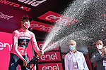 Race leader Filippo Ganna (ITA) Ineos Grenadiers retains the Maglia Rosa at the end of Stage 2 of the 103rd edition of the Giro d'Italia 2020 running 149km from Alcamo to Agrigento, Sicily, Italy. 4th October 2020.  <br /> Picture: LaPresse/Gian Mattia D'Alberto | Cyclefile<br /> <br /> All photos usage must carry mandatory copyright credit (© Cyclefile | LaPresse/Gian Mattia D'Alberto)