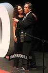 "The spanish journalist Inaki Gabilondo with the singer Ana Belen during the Gala ""Contigo"" in celebration of the 90th anniversary of Radio Madrid Cadena SER. June 2, 2015. (ALTERPHOTOS/Acero)"